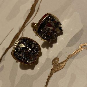 Faux Druzy Earrings, Graphite! 😍😍😍😍